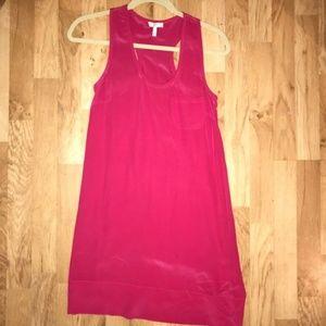 Joie - Hot Pink Racerback Silk Dress